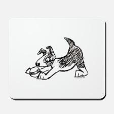 Dog Playing With Ball Mousepad