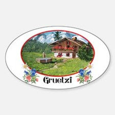 Swiss Gruetzi Oval Decal