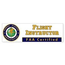 FAA Certified Flight Instructor Bumper Bumper Sticker