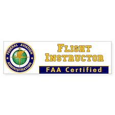 FAA Certified Flight Instructor Bumper Car Sticker