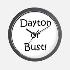 Dayton or Bust! Wall Clock