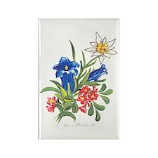 Alpine Flowers Rectangle Magnet