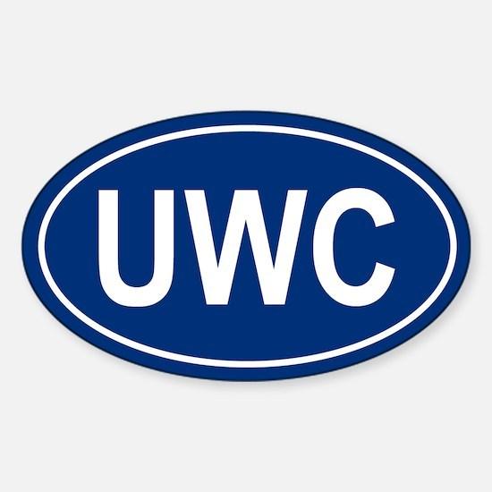 UWC Oval Decal