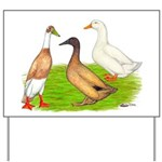 Egg and Meat Ducks Yard Sign