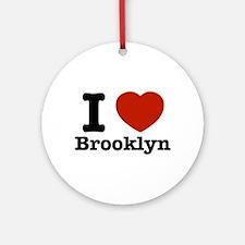 I love Brooklyn Ornament (Round)