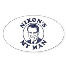 Nixon's My Man T-Shirt Oval Decal