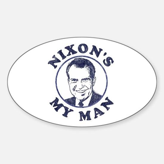 Nixon's My Man T-Shirt Oval Decal