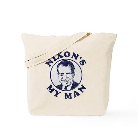 Nixon 39 s my man t shirt tote bag by flippin sweet for T shirt tote bag