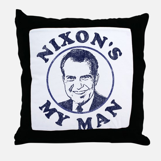 Nixon's My Man T-Shirt Throw Pillow