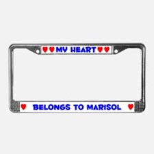 My Heart: Marisol (#005) License Plate Frame
