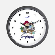 Self-employed, Home Office Wall Clock
