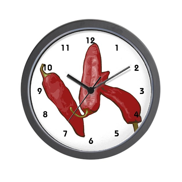 Red Chili Pepper Chef Wall Clock By Workclocks