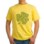 Shamrock Skull St Patricks Day Yellow T-Shirt
