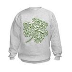 Shamrock Skull St Patricks Day Kids Sweatshirt