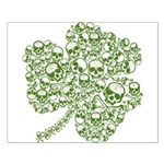 Shamrock Skull St Patricks Day Small Poster