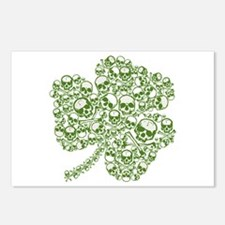 Shamrock Skull St Patricks Day Postcards (Package