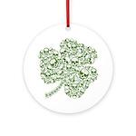 Shamrock Skull St Patricks Day Ornament (Round)