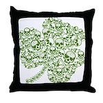 Shamrock Skull St Patricks Day Throw Pillow