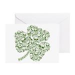 Shamrock Skull St Patricks Day Greeting Cards (Pk