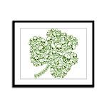 Shamrock Skull St Patricks Day Framed Panel Print