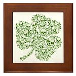 Shamrock Skull St Patricks Day Framed Tile