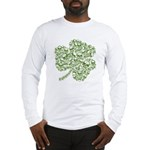 Shamrock Skull St Patricks Day Long Sleeve T-Shirt