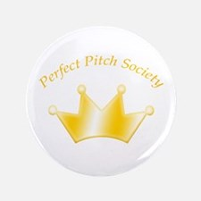"Perfect Pitch Society Gold Crown 3.5"" Button"