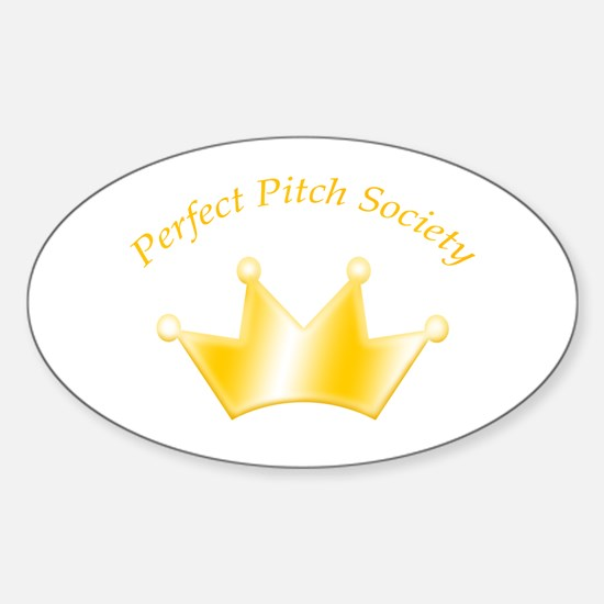 Perfect Pitch Society Gold Crown Oval Decal