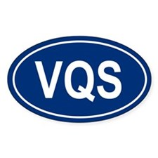 VQS Oval Bumper Stickers
