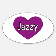 Jazzy Oval Decal