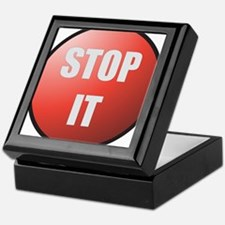 Stop It Button Keepsake Box