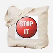 Stop It Button Tote Bag
