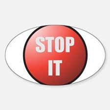 Stop It Button Decal