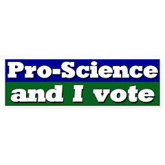 Pro Science Voter Bumper Bumper Sticker