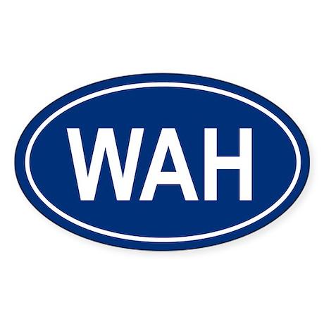 WAH Oval Sticker