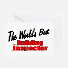 """The World's Best Building Inspector"" Greeting Car"
