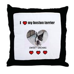 SWEET DREAMS BOSTON TERRIER Throw Pillow