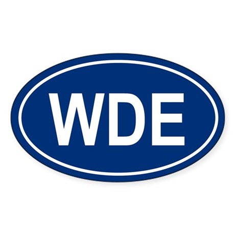 WDE Oval Sticker