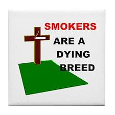 SMOKERS GRAVE Tile Coaster