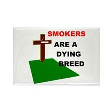 SMOKERS GRAVE Rectangle Magnet (10 pack)