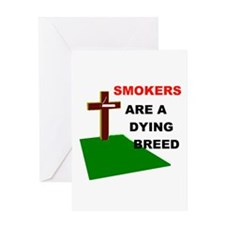 SMOKERS GRAVE Greeting Card