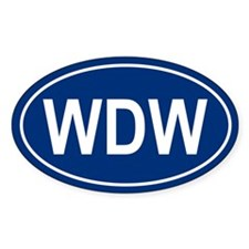 WDW Oval Bumper Stickers