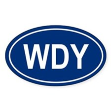WDY Oval Decal