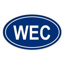 WEC Oval Decal