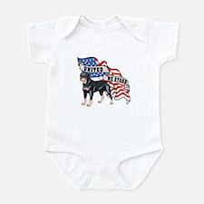 Rottweiler United We Stand American Flag Infant Bo