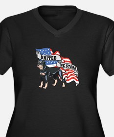 Rottweiler United We Stand American Flag Women's P