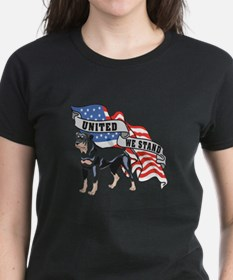 Rottweiler United We Stand American Flag Tee
