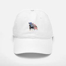 Rottweiler United We Stand American Flag Baseball Baseball Cap