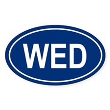 WED Oval Decal