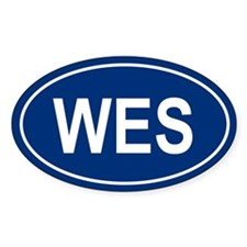 WES Oval Decal
